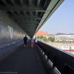 Walking across UFO Bridge