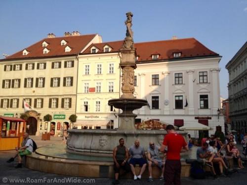 Fountain in Bratislava