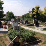 Cemetery in Rajka, Hungary