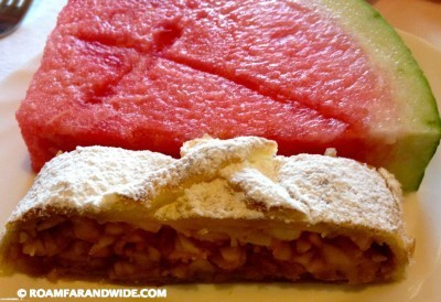 Watermelon and apple strudel