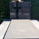 Modern headstone