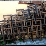 Chairs outside restaurant