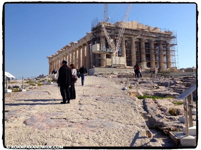 First glimpse of the Parthenon
