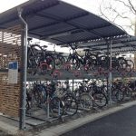 Double-decker bike parking