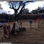 A volunteer-made playground for children to play and parents to rest.