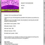 Receipt from Dirty Girls