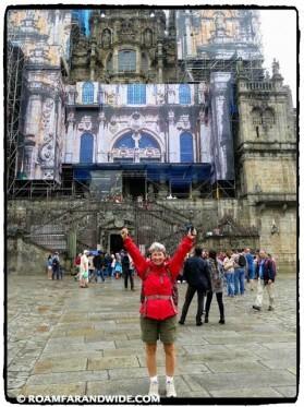 Carol in Santiago de Compostela