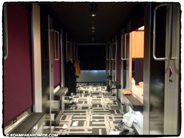 Corridor in cube hotel