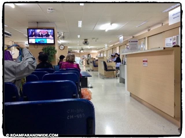 Waiting to see doctor. Sriphat Medical Center.