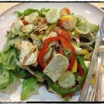 Fresh salad with tofu.