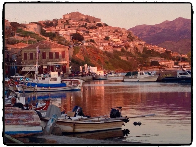 Sunset at Molyvos Harbor