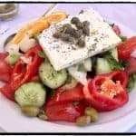 Typical salad with feta