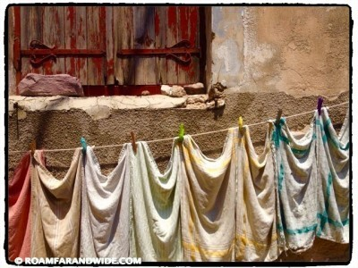 Wash drying in a Molyvos alleyway